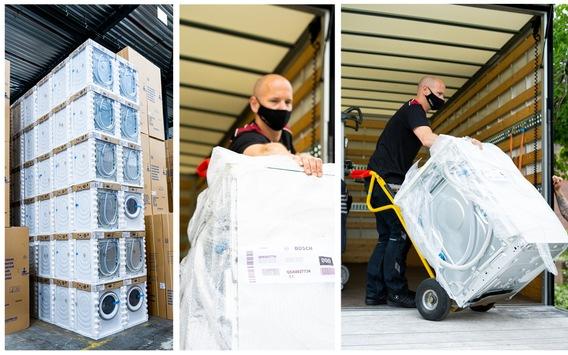 BSH hilft Betroffenen der Hochwasserkatastrophe / Hausgerätehersteller organisiert Geräte- und Geldspenden sowie praktische Unterstützung durch Kundendienst