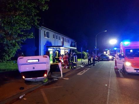 FW-E: Drei Verletzte nach Verkehrsunfall