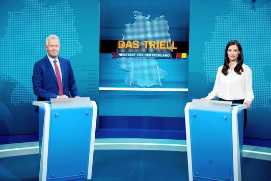 """RTL/ntv Wahl-Triell crossmedial & barrierefrei / Peter Kloeppel: """"Mehr Raum für unsere Fragen und Nachfragen"""" / Triell-Nachklapp mit Günther Jauch, Motsi Mabuse und Louisa Dellert"""