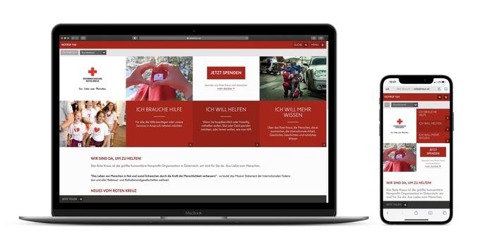 Alles neu – eine starke Webseite für das Österreichische Rote Kreuz