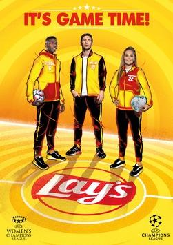 Lay's® startet globale UEFA Champions League Kampagne 2021: Lionel Messi, Paul Pogba und Lieke Martens bringen Spielfreude nach Hause