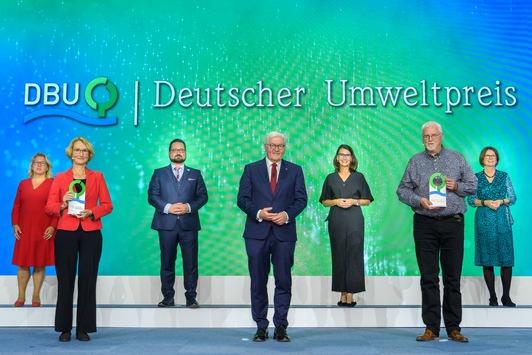 Steinmeier: Gemeinsam umsteuern für Klimaschutz und Artenvielfalt / Bundespräsident überreicht Deutschen Umweltpreis 2021