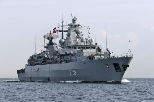 """Fregatte """"Schleswig-Holstein"""" läuft zur Seeraumüberwachung in Richtung Ägäis aus"""