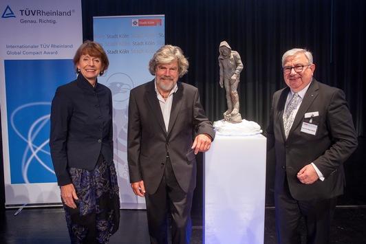 Preisverleihung: Internationaler TÜV Rheinland Global Compact Award für Reinhold Messner / TÜV Rheinland Stiftung zeichnet Südtiroler Bergsteiger aus: Einsatz für Naturschutz und Bergvölker gewürdigt