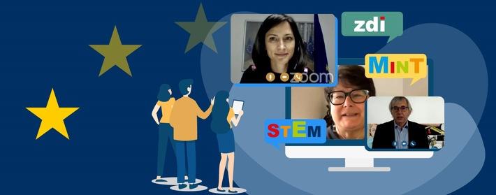 Pressemitteilung: Online-Diskussion zu MINT-Bildung in der EU – NRW als Vorbild für Europa