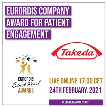 Takeda erhält renommierten EURORDIS 2021 Black Pearl Award für patientenorientiertes Engagement