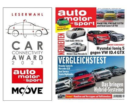 Leserwahl Car Connectivity Award 2021: Mercedes-Benz ist mit fünf Awards die erfolgreichste Marke, aber BMW holt auf