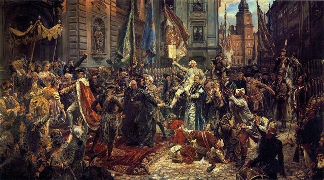 230.Jahrestag der polnischen Verfassung – 3.05.1791. Im Gegensatz zu anderen Ländern Europas entwickelte sich Polen nicht zur absoluten Monarchie, sondern zu einem System aus Wahlmonarchie & Republik