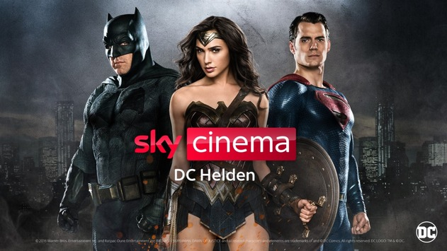 Sky Cinema DC Helden: Superman, Wonder Woman, die Justice League und der Joker in ihren Hits exklusiv bei Sky und Sky Ticket