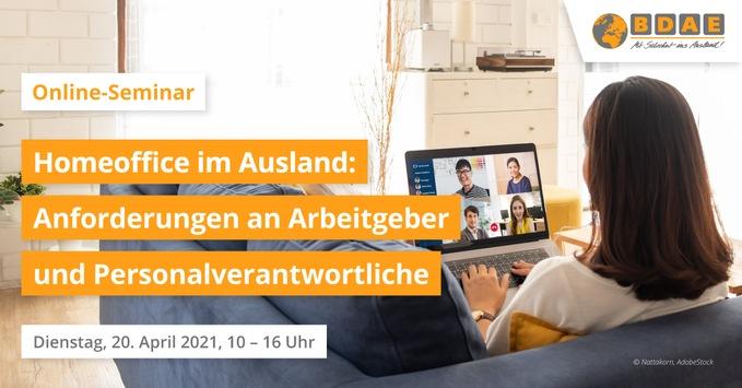 Jetzt Teilnahme an Online-Seminaren sichern: Homeoffice im Ausland und aktuelle Compliance-Anforderungen bei Geschäftsreisen im Ausland