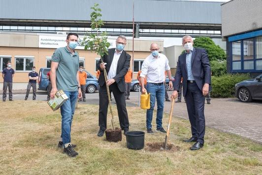 Ford-Auszubildende pflanzen Bäume im Saarlouiser Werk