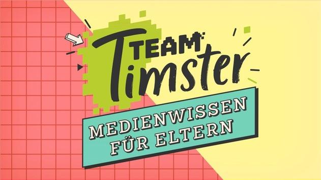 """""""Team Timster – Medienwissen für Eltern"""" / KiKA-Mediengespräche mit Expert*innen ab 5. April auf erwachsene.kika.de"""