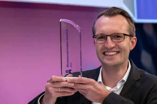 30. Wissenschaftspreis Logistik für innovative Kapazitätsplanung mit maschinellem Lernen vergeben / Dr. Pascal Notz überzeugte die Jury