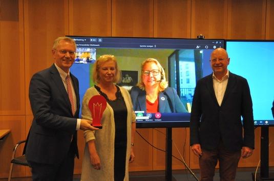 Ausgezeichnet: LBS fördert 59 nachhaltige Projekte in NRW und Bremen / Umweltministerin Svenja Schulze unterstützt Jury im Vorausdenker-Wettbewerb 2021 / 1.200 Bäume werden gepflanzt