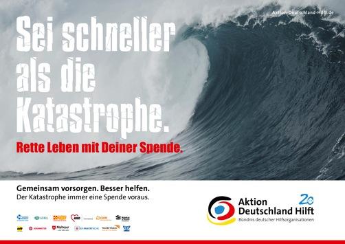 """Aktion Deutschland Hilft: """"Sei schneller als die Katastrophe!"""" / Bündnis veröffentlicht Studie zur Katastrophenvorsorge – Bundespräsident a.D. Horst Köhler unterstützt Vorsorge-Kampagne"""