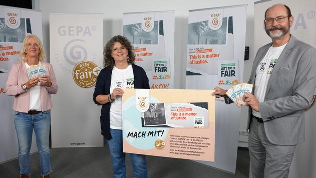 """""""Climate Justice – Let's Do It Fair"""" / Die GEPA startet zur Fairen Woche europäische Klimagerechtigkeitskampagne / Neu: Aktionsprodukt vegane Klimaschokolade mit Dattelsüße: #Choco4Change vegan"""
