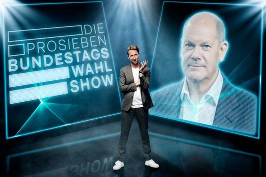 """KORREKTUR: Welche Vision hat Olaf Scholz für Deutschland? Der SPD-Kanzlerkandidat kommt am Mittwoch in """"Die ProSieben-Bundestagswahl-Show"""" mit Louis Klamroth"""