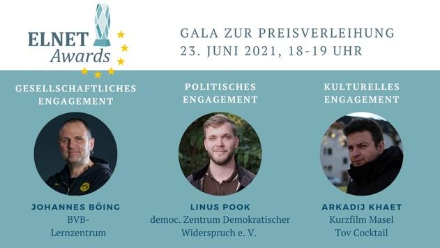 Das European Leadership Network vergibt erstmals die ELNET AWARDS