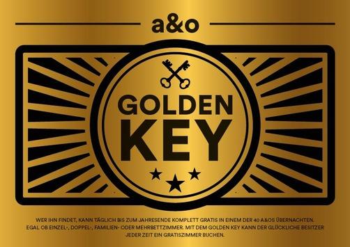 a&o gratis: Der a&o Golden Key liegt unter der Matratze