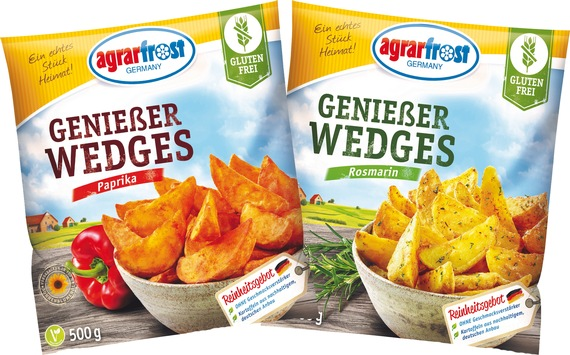 NEU: Agrarfrost Genießer Wedges sorgen für Abwechslung auf dem Speiseplan