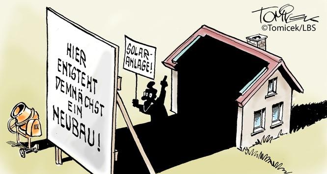 Schädlicher Schatten / Eigentümer einer Solaranlage wandte sich gegen seinen Nachbarn