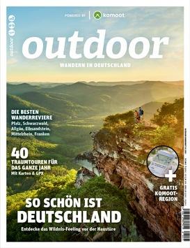 OUTDOOR-Sonderheft präsentiert weniger bekannte Wandergebiete in Deutschland mit Touren direkt für die App