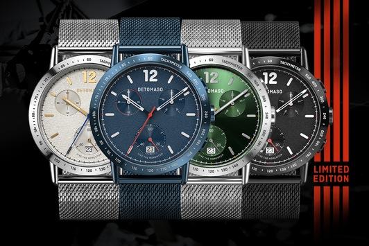 DETOMASO nimmt Fahrt auf: Erste neue Uhr in 2021 / ADESSO CHRONOGRAPH auf 1999 Stück limitiert