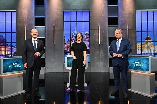 Forsa-Umfrage: Olaf Scholz gewinnt klar das finale #Triell auf ProSieben, in SAT.1 und bei Kabel Eins