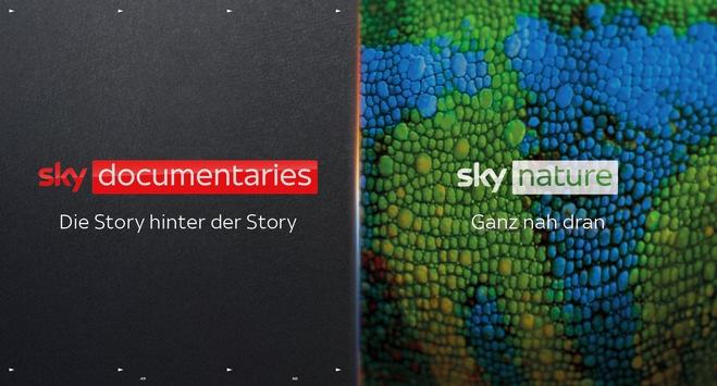 Neue Sendermarken Sky Nature und Sky Documentaries starten kommenden Donnerstag, 9. September exklusiv auf Sky und Sky Ticket