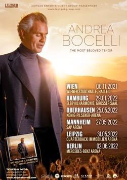 Tourneeverschiebung: Weltstar ANDREA BOCELLI – The Most Beloved Tenor – ANHÄNGE