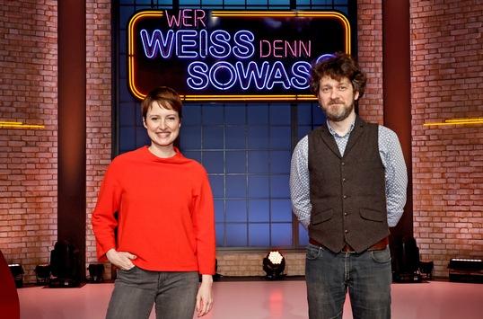 """Das Erste: Frischer Nord-Wind: Wanda Perdelwitz und Sven Fricke bei """"Wer weiß denn sowas?"""""""