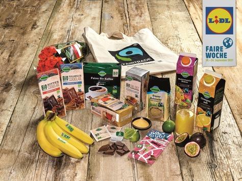 Lidl stellt zur Fairen Woche den fairen Handel in den Mittelpunkt / 15 Jahre Lidl und Fairtrade: Mehr Nachhaltigkeit im Sortiment und in den Lieferketten