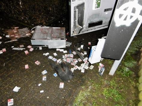 POL-AC: Zigarettenautomat gesprengt: Täter flüchtet mit Beute