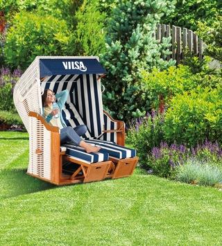 Urlaubsfeeling für Zuhause gewinnen: VILSA-BRUNNEN verlost Strandkörbe für die perfekte Erholung im eigenen Garten!