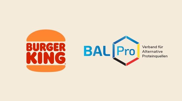 Burger King® setzt sich für Fleischalternativen ein / Burger King® ist erstes systemgastronomisches Mitglied im Verband für Alternative Proteinquellen e.V.