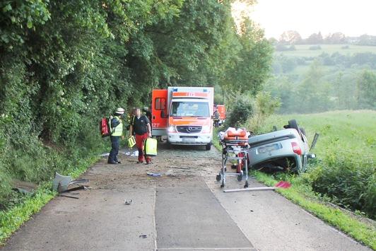 POL-AC: Zwei Personen bei Unfall schwer verletzt