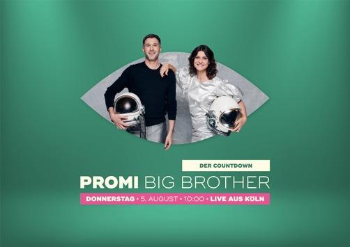 """Big Brother enthüllt seine neue Welt und ein:e Bewohner:in. SAT.1 streamt """"Promi Big Brother – Der Countdown"""" live aus Köln / Einladung für Journalist:innen"""