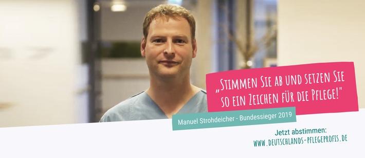 Deutschlands beliebteste Pflegeprofis: Start der Online-Abstimmung für den Bundessieg