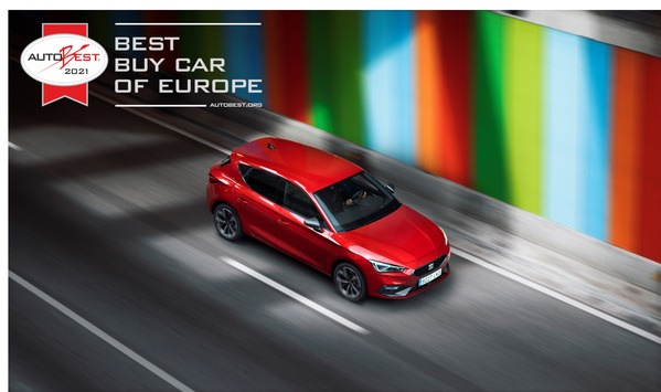 "AUTOBEST 2021: Der neue SEAT Leon ist ""Best Buy Car of Europe 2021"""