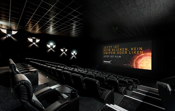 JETZT IST FILM: CinemaxX feiert die Einmaligkeit des Kinoerlebnisses mit nationaler Kampagne / Emotionaler Leinwandspot ist Herzstück von JETZT IST FILM