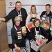 De gauche à droite: Christian Stucki, Linda Fäh et Mark Streit (tous ambassadeurs de la CRS) et le directeur Markus Mader En ...